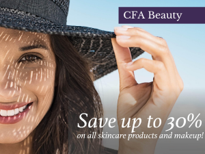 woman-CFA Beauty Med Spa-30% off skincare products